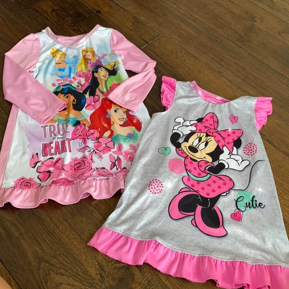 Disney nightgowns. Set of 2. Size 3/4